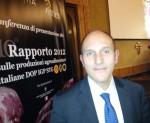 Cesare Mazzetti Presidente del Consorzio Aceto Balsamico di Modena IGP alla presentazione del Rapporto Qualivita a Roma.JPG