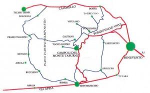 mappa x raggiungere CAMPOLI