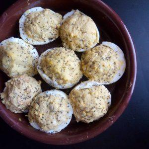 uova ripiene di mozzarella