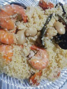 Cous cous di pesce e  legumi