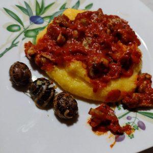 Chiocciole in umido con polenta