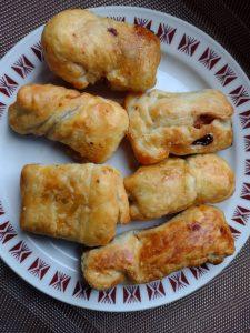 Fagottini di pasta sfoglia ripieni di  nutella